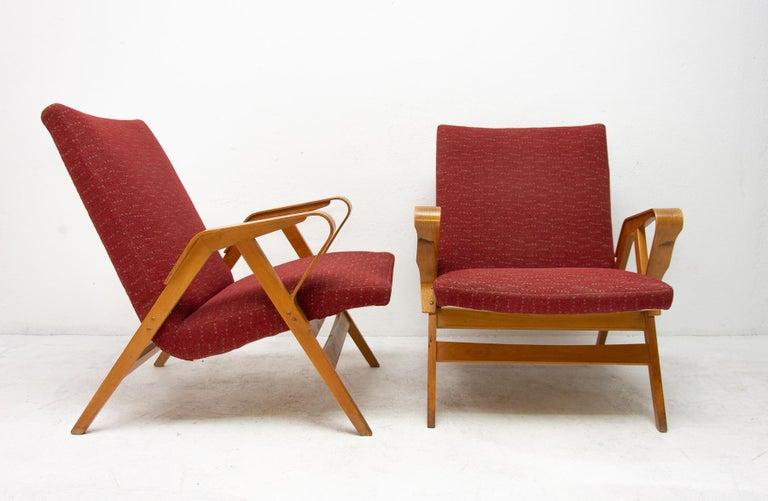 Pair of Midcentury Tatra Bentwood Armchairs, Czechoslovakia, 1960s For Sale 1