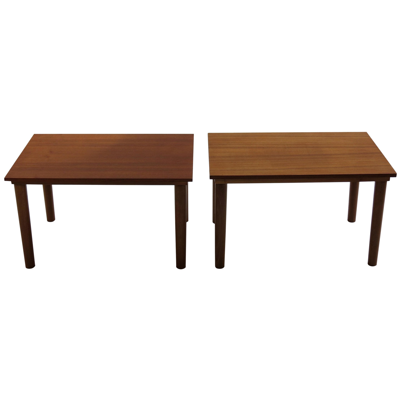 Pair of Midcentury Teak Side Tables Børge Mogensen Style