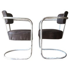 Pair of Midcentury Tubular Chairs