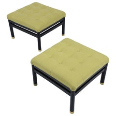 Pair of Mid-Century Tufted Benches