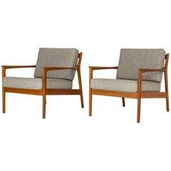 "Pair of Midcentury ""USA 75"" Lounge Chairs by Folke Ohlsson"