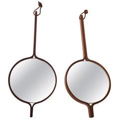Pair of Midcentury Vanity Mirrors in Teak by Hans Agne Jakobsson