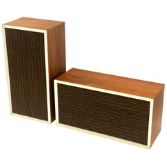 Pair of Midcentury Vintage Loud Speakers in Walnut by KHL Model 10