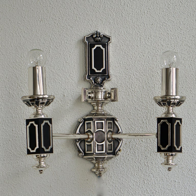 European Pair of Midcentury Wall Lights For Sale