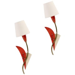 Pair of Midcentury Wall Lights, Norway, 1950s