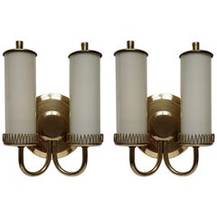 Pair of Midcentury Wall Lights Sconces by Paavo Tynell, 1950s