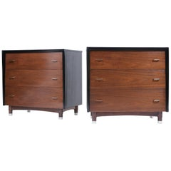 Pair of 1960's Mid-Century Walnut Dressers