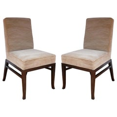 Pair of Midcentury Walnut Side Chairs