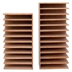 Pair of Midcentury Wood Shelves, 1970s