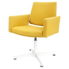 Pair of Midcentury Yellow Swivel Chairs