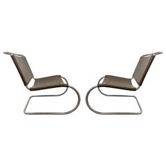 Pair of Mies van der Rohe for Knoll MR 30/5 Lounge Chairs
