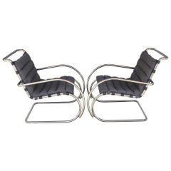 Pair of Mies van der Rohe Mr Lounge Chairs for Knoll