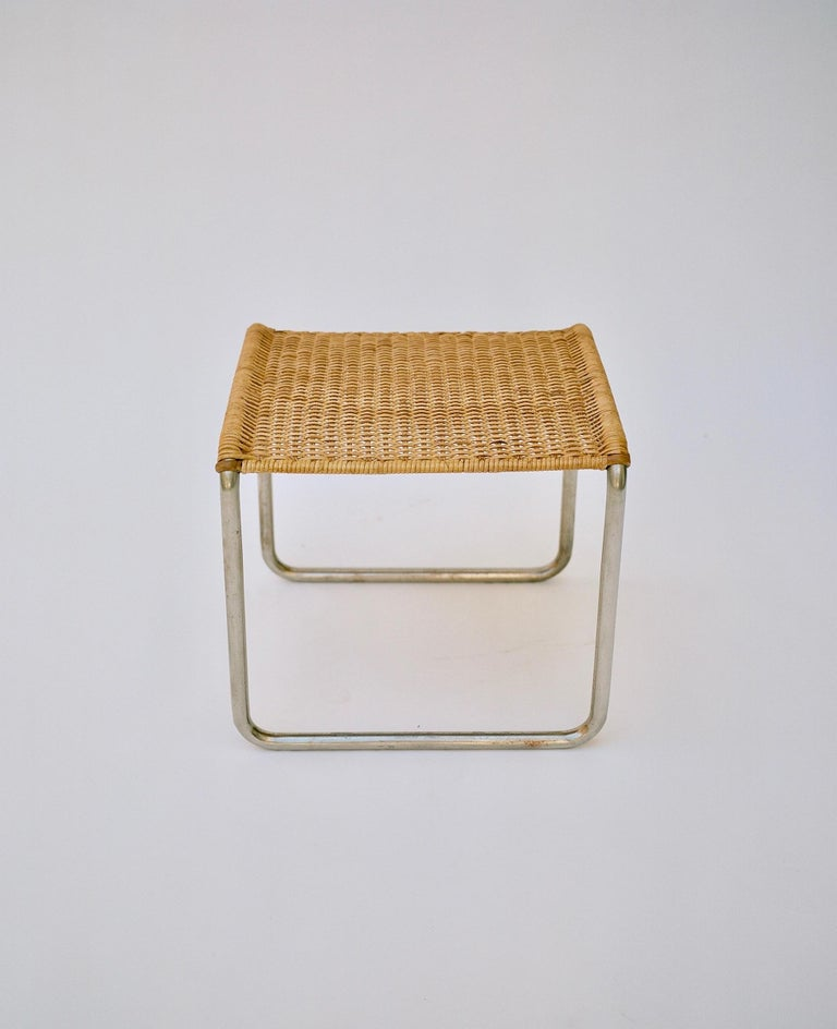 Bauhaus Pair of Mies Van Der Rohe Mr1 Stools, circa 1927 For Sale