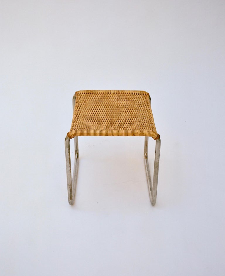 German Pair of Mies Van Der Rohe Mr1 Stools, circa 1927 For Sale