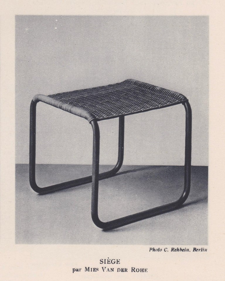 20th Century Pair of Mies Van Der Rohe Mr1 Stools, circa 1927 For Sale