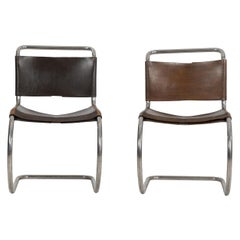 Pair of Mies van der Rohe Sling MR Dining Chairs