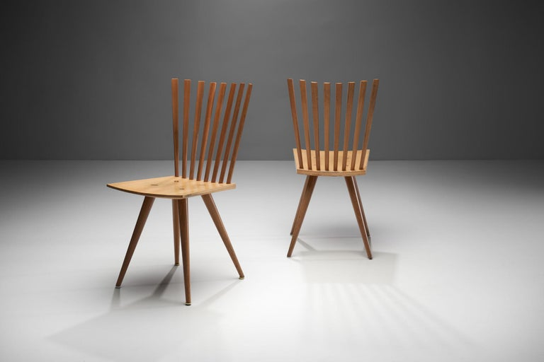 Scandinavian Modern Pair of 'Mikado' Chairs by Johannes Foersom and Peter Hiort-Lorenzen of Nutwood For Sale
