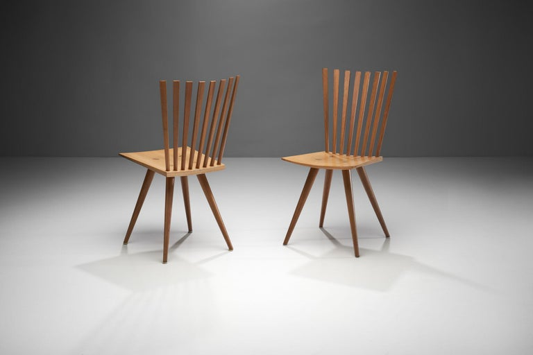 Danish Pair of 'Mikado' Chairs by Johannes Foersom and Peter Hiort-Lorenzen of Nutwood For Sale