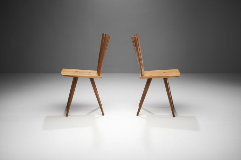 Late 20th Century Pair of 'Mikado' Chairs by Johannes Foersom and Peter Hiort-Lorenzen of Nutwood For Sale