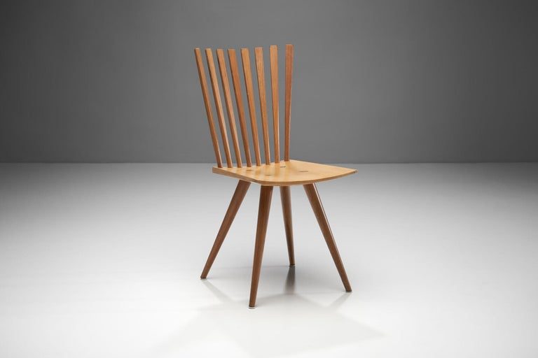 Beech Pair of 'Mikado' Chairs by Johannes Foersom and Peter Hiort-Lorenzen of Nutwood For Sale