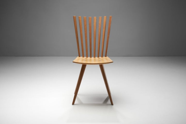 Pair of 'Mikado' Chairs by Johannes Foersom and Peter Hiort-Lorenzen of Nutwood For Sale 1