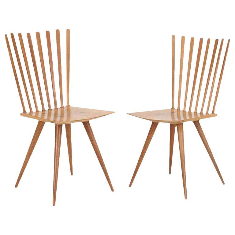 Pair of 'Mikado' Chairs by Johannes Foersom and Peter Hiort-Lorenzen of Nutwood For Sale