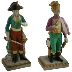 Pair of English Military Ceramic Sculptures