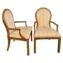 Pair of Milo Baughman Arm or Office Chairs, Mid-Century Modern, Mastercraft