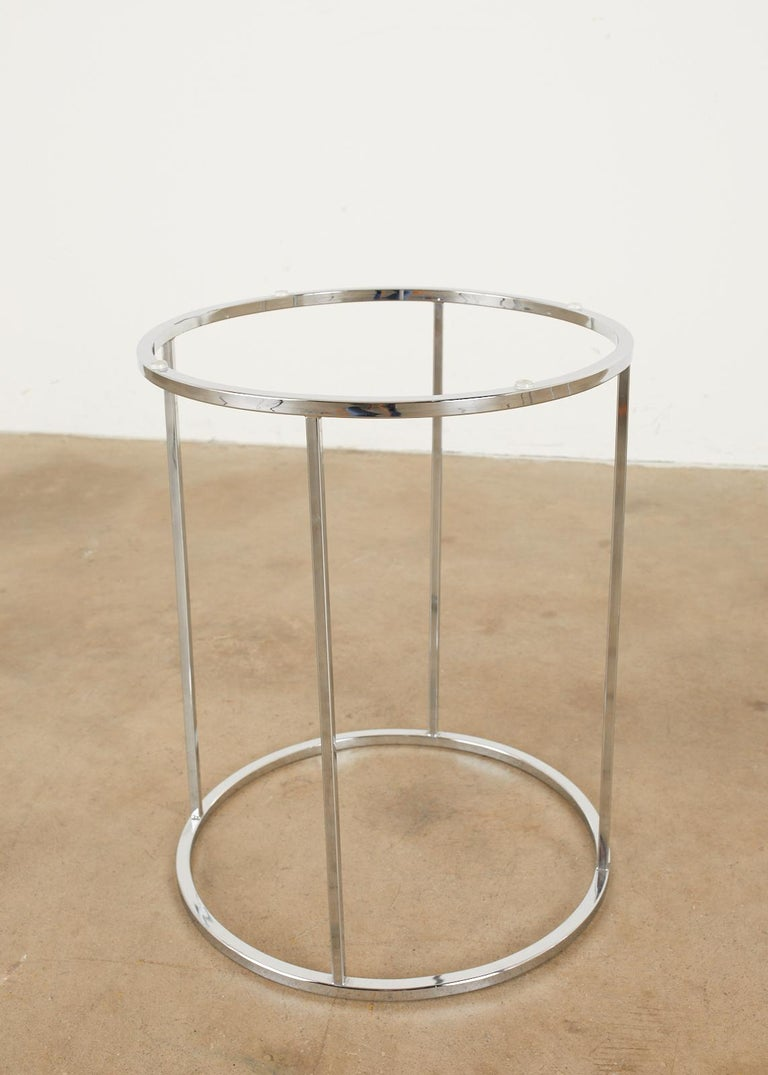 Pair of Milo Baughman Attributed Thin Line Chrome Drink Tables For Sale 10