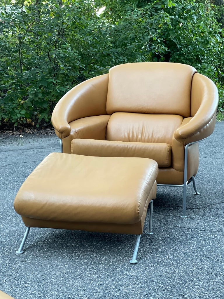Pair of Milo Baughman Boldido Lounge Chairs and Ottomans for Thayer Coggin For Sale 3