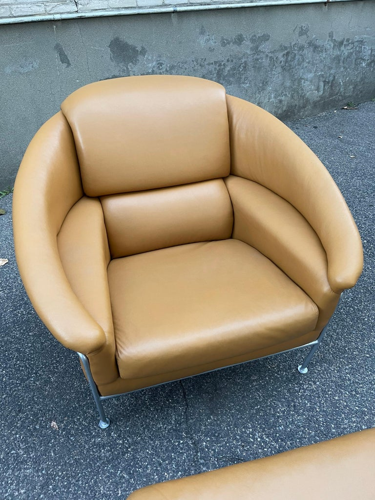 Pair of Milo Baughman Boldido Lounge Chairs and Ottomans for Thayer Coggin For Sale 5