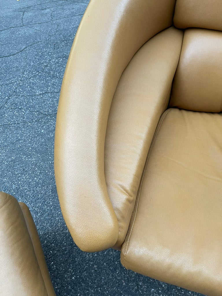 Pair of Milo Baughman Boldido Lounge Chairs and Ottomans for Thayer Coggin For Sale 9