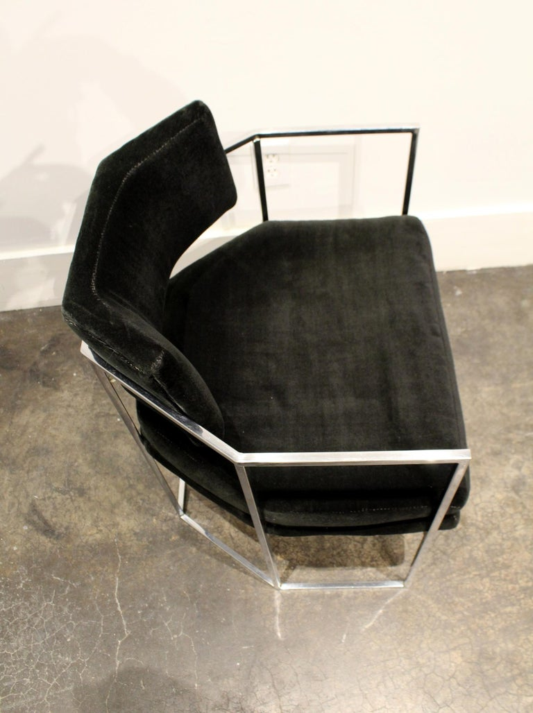 Pair of Milo Baughman for Thayer Coggin Chrome Armchairs 6