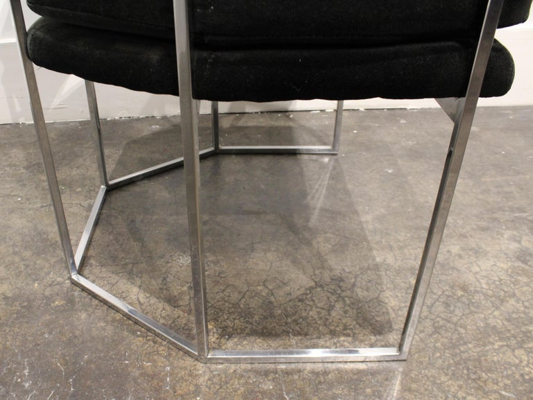 Pair of Milo Baughman for Thayer Coggin Chrome Armchairs 7