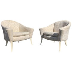 Pair of Milo Baughman for Thayer Coggin 'Danhauser' Open Arm Club Chairs