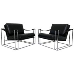 Pair of Milo Baughman for Thayer Coggin Model 1233 Lounge Chairs, circa 1972