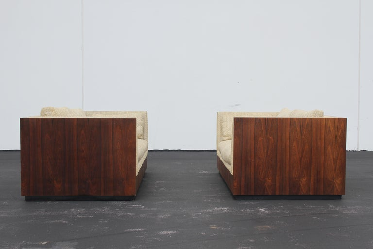 Pair of Milo Baughman for Thayer-Coggin Rosewood Settees, Loveseats or Sofas For Sale 5