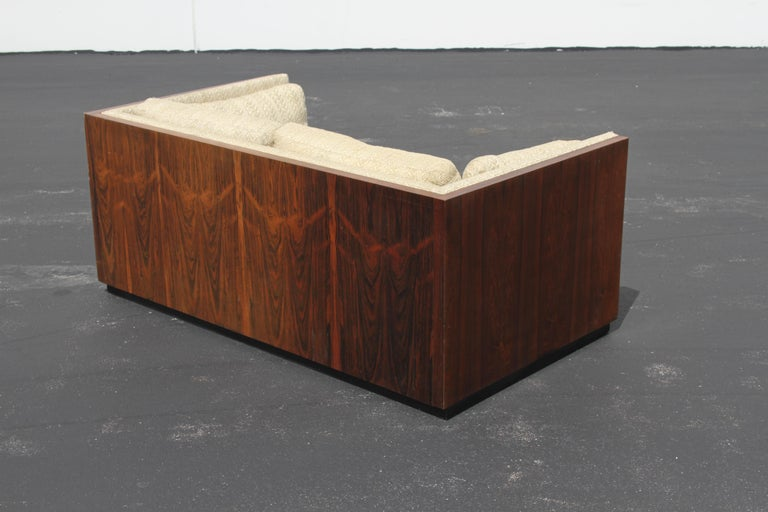 Pair of Milo Baughman for Thayer-Coggin Rosewood Settees, Loveseats or Sofas For Sale 9