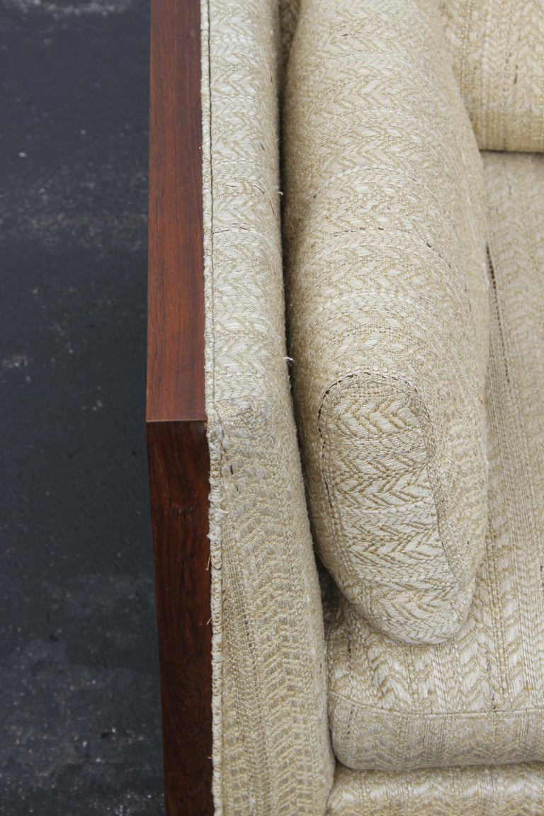 Pair of Milo Baughman for Thayer-Coggin Rosewood Settees, Loveseats or Sofas For Sale 8