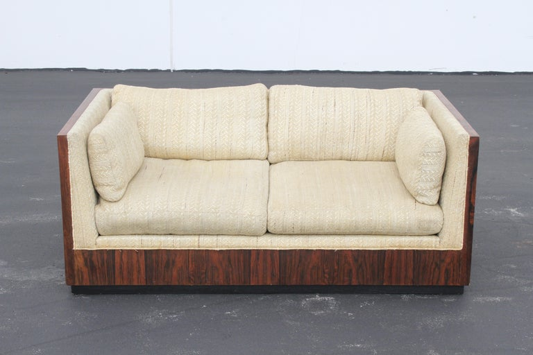 Pair of Milo Baughman for Thayer-Coggin Rosewood Settees, Loveseats or Sofas In Good Condition For Sale In St. Louis, MO