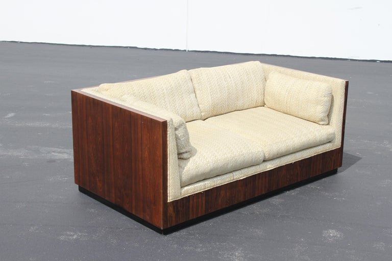 Veneer Pair of Milo Baughman for Thayer-Coggin Rosewood Settees, Loveseats or Sofas For Sale