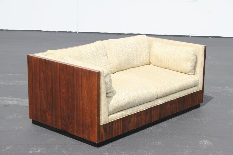Pair of Milo Baughman for Thayer-Coggin Rosewood Settees, Loveseats or Sofas For Sale 1