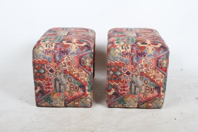 Late 20th Century Pair of Milo Baughman for Thayer Coggin Waterfall Ottomans or Benches For Sale