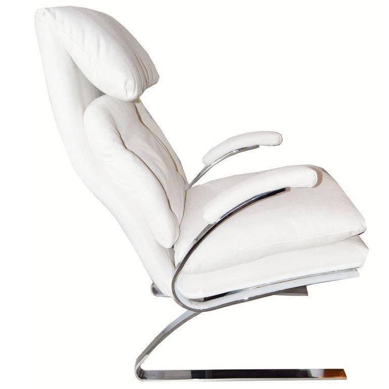 Pair of Milo Baughman Style Lounge Chair