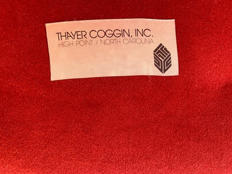 Pair of Milo Baughman Swivel Lounge Chairs for Thayer Coggin In Good Condition For Sale In New York, NY