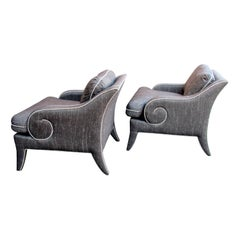 Pair of Upholstered Chairs by Milo Baughman
