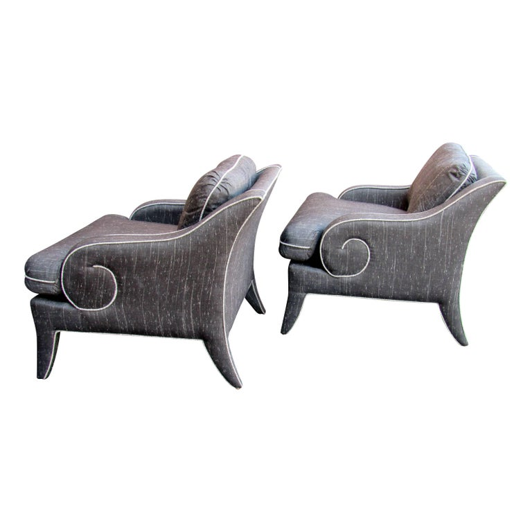 Pair of Lounge Chairs by Milo Baughman for Thayer Coggin