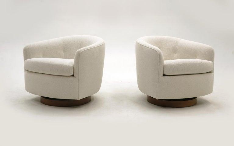 beautiful swivel club chairs | Pair of Milo Baughman Tilt Swivel Club / Lounge Chairs ...