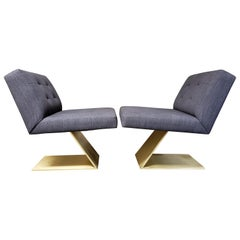 "Pair of Milo Baughman ""Z"" Chairs for Thayer Coggin"