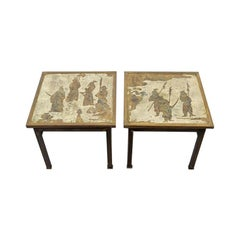 "Pair of ""Ming"" Chinoiserie Side Tables"
